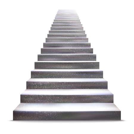 escaleras: Ilustración realista escalera de piedra.