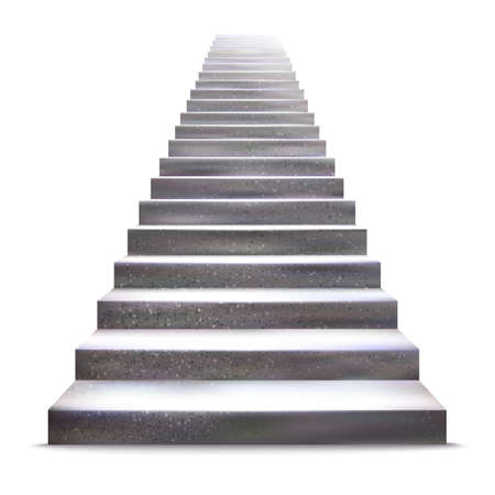 staircase: Realistic stone ladder illustration.