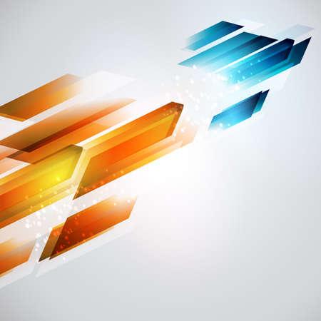 Dal caldo al freddo aggiornamento illustrazione. freccia Sfondo geometrico. lo sviluppo di energia. Archivio Fotografico - 42570429