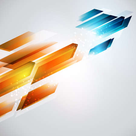 hot and cold: From hot to cold refresh illustration. Geometrical arrow background. Energy development.