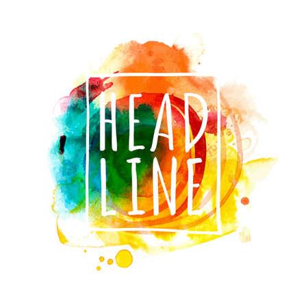 summer fun: Bright multicolored blob banner for Summer Fun Design. Abstract vector, bright drawing sketch illustration Illustration
