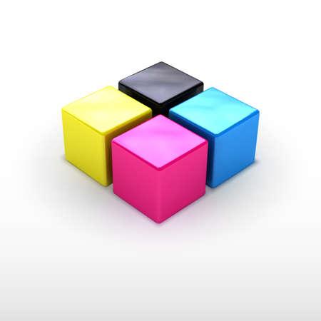 imprenta: servicio de impresi�n 3D emblema. Meta para el negocio de impresi�n. Tecnolog�a de impresi�n, colores poligr�ficos.
