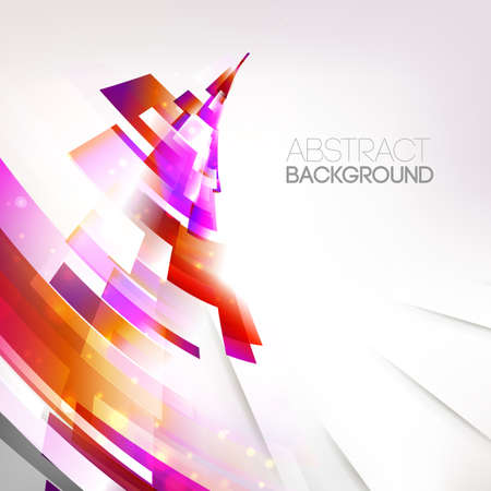 astract:  abstract colorful lines illustration, single linear design object. Motion wave. Autumn season background. Corner design element.