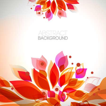 Autumn floral decorative elements. Leaves border. Abstract decorative frame. Season design.