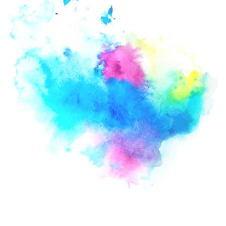 水彩画を楽しむライフ スタイル メッセージとスプラッシュ バナー。夏デザインの芸術的な背景は。抽象的なイラスト。