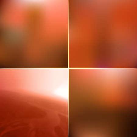lichteffekte: Blur vector Herbst orange Hintergrund. Defocused Retro-Design mit Lichteffekten. Abstrakte Natur Web-Banner Sammlung. Illustration