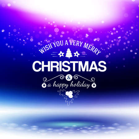 Abstract Xmas firework with Holidays message at blue dark background. Holidays concept. Web banner vector.