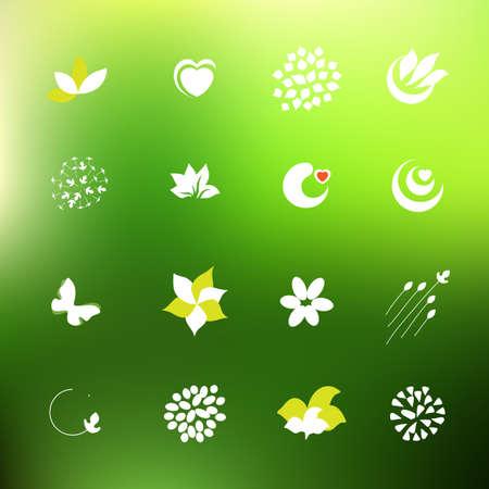 logo de comida: Establece logo granja comida org�nica. Ingredientes Naturales s�mbolos. Colecci�n de etiquetas de los alimentos naturales.