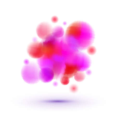 quimica organica: Female rose molecules vector concept Futuristic medic technologies illustration. Pink particles. Women health concept.