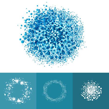 molecula: La tecnología Medic partículas de elementos de anillo. puntos sanos ilustración abstracta del vector. set simbolo Air. Vectores