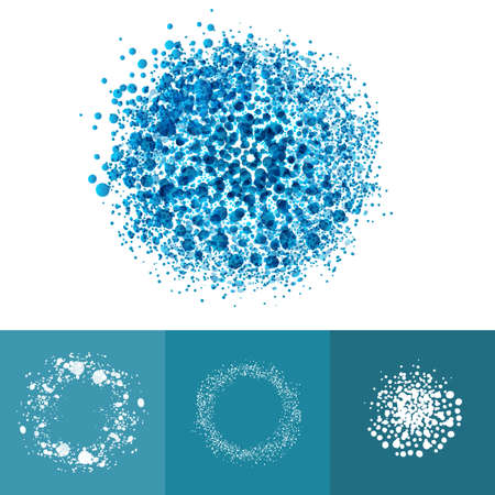 Molecule: Medic technology  particles ring elements. Healthy dots abstract vector illustration. Air symbol set.