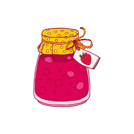 hand jam: Hand drawn vector Jam sketch. Food illustration.
