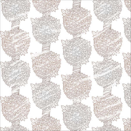 durty: Neutral colors coffee plants seamless pattern. Vector background for coffee beans business. Illustration