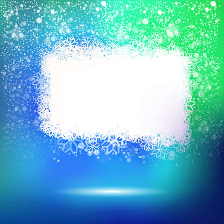 colorfull: Winter cloud at colorfull background with snow for your text message. Abstract vector label for season holidays offer.