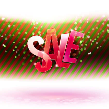 desember: Red and green stripes with Sale promo. Holidays Discount offer. Creative concept for Xmas Sales season. Holidays sale creative concept.