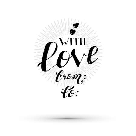 With love typography. Vector life style lettering banner. Sketched text quote illustration.