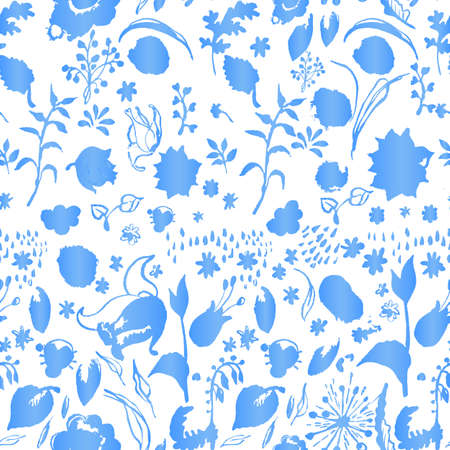 esoterics: Artistic seamless winter flora pattern. Vector hand drawing vintage elements. Artistic nature illustration.