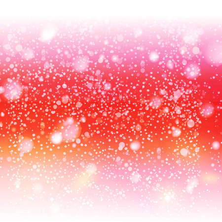red sky: Decorative red sky with snow illustration. Cute nature illustration.