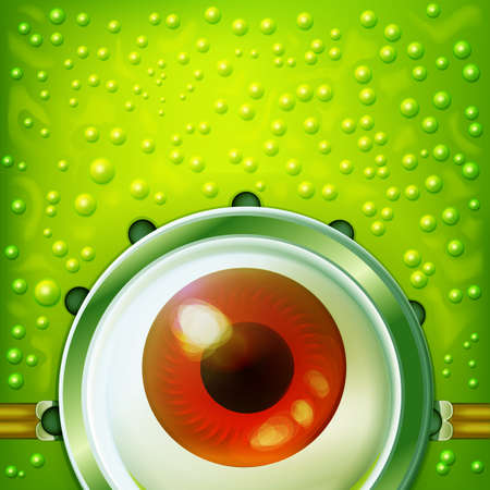 funny glasses: Alien eye with funny glasses. Fun vector abstract character. Looking concept. Illustration