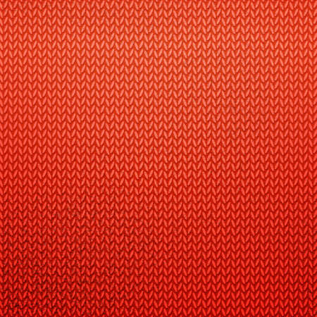 Red Knitted Pattern Color Knitting Abstract Background With