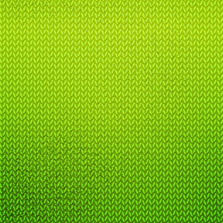 Green Knitted Pattern Color Knitting Abstract Background With