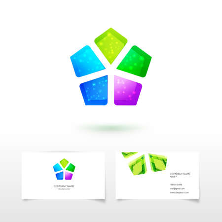 five elements: Abstract elements together for  identity and eco friendly service design. Five elements of energy concept.