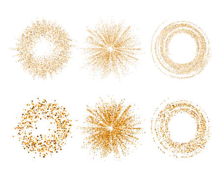 Vector abstract glitter background with golden texture.