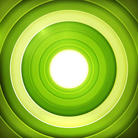centered: Abstract vector background with centered green colors target