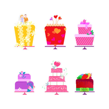 tier: All cakes collection for order.