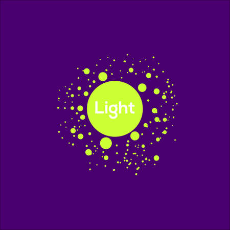 visual art: Lighting abstract Icon. Circle emblem for lighting technology. Acid color visual art symbol. Light Icon.
