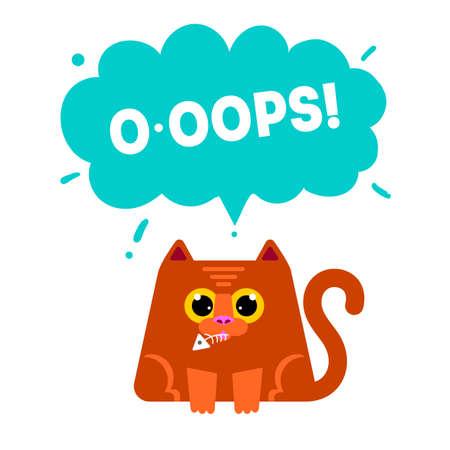 Cats Life Story Flat Icons  Cat Flat Drawn Symbols Set