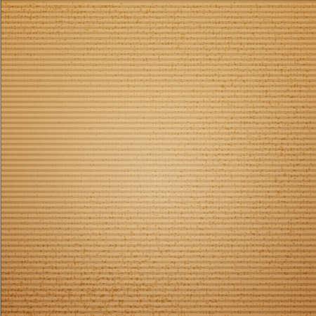 Cardboard texture vector illustration for package design. Cruft background.