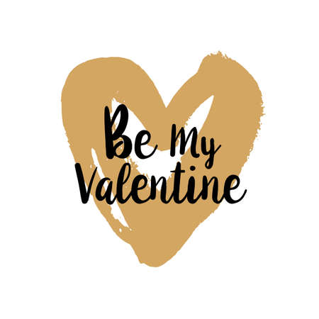 Be my Valentine on golden heart