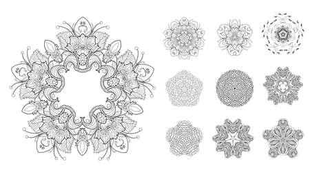 Set of mandalas Illustration