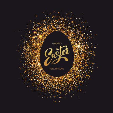 Easter symbol on luxury black background