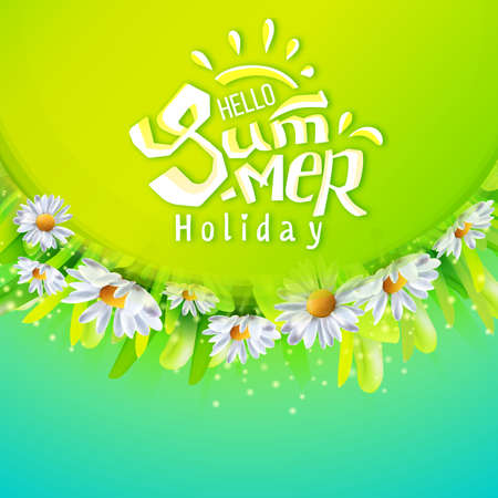 Hello Summer holidays banner