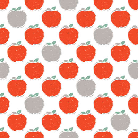 A Seamless pattern of red and grey apple.