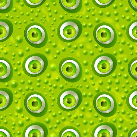 Seamless pattern with cartoon monster eyes