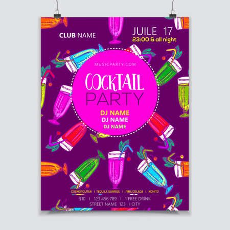 vibrance: A Cocktail party poster
