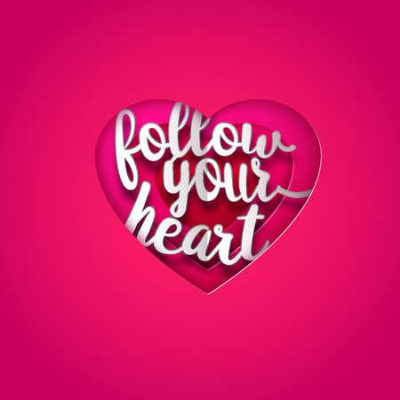 cut paper: Follow your heart paper design