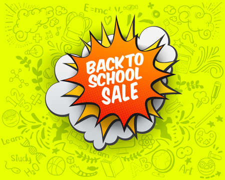 Back to school Sale comic bubble
