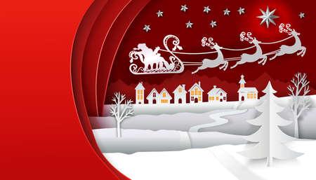Christmas winter banner.
