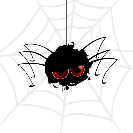 Funny spider blot