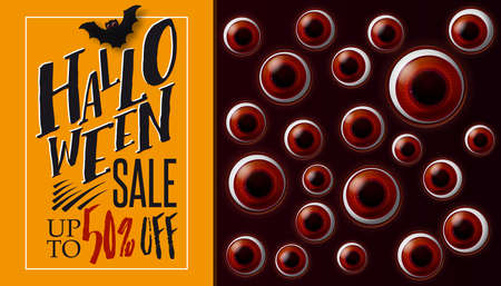 Halloween sale and looking eyes
