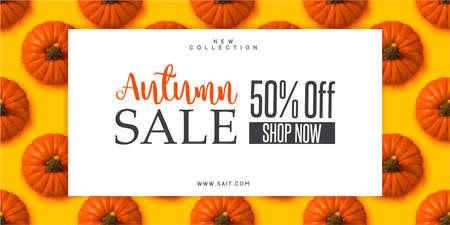 Autumn sale with pumpkins