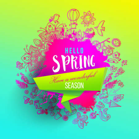 Fresh vector Spring splash design