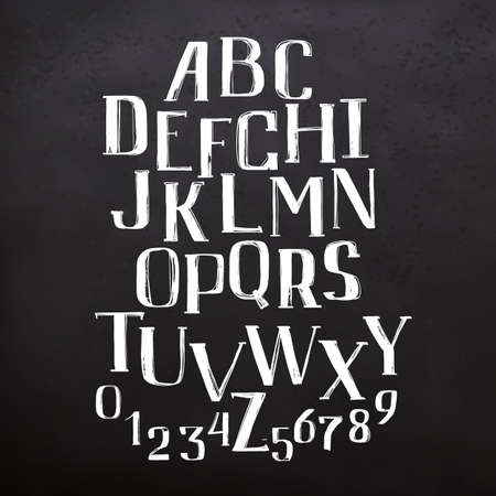 ABC letters on blackboard