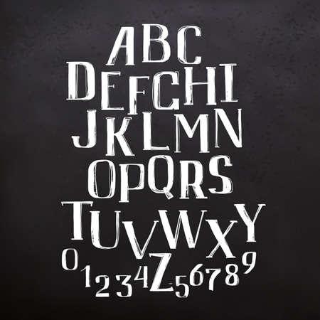 Lettres ABC sur tableau noir