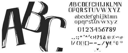Lettres abc dessinés à la main