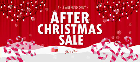Red After Christmas Sale banner